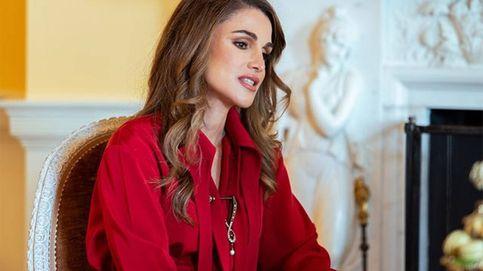 Rania de Jordania deslumbra de rojo en su visita a la Casa Blanca