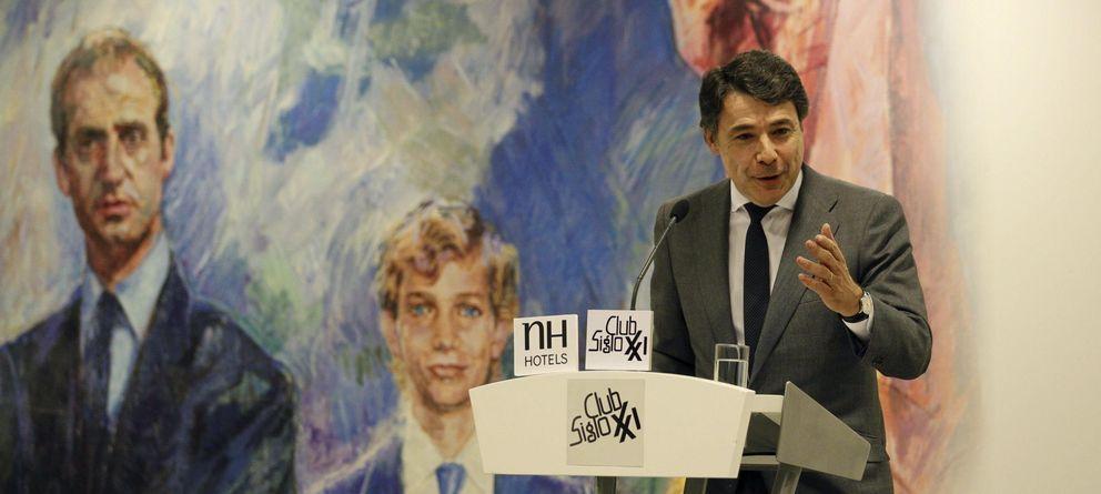 Foto: Conferencia de Ignacio González en el Club Siglo XXI el pasado lunes (EFE)