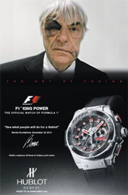 Foto: Ecclestone rentabiliza su paliza anunciando relojes