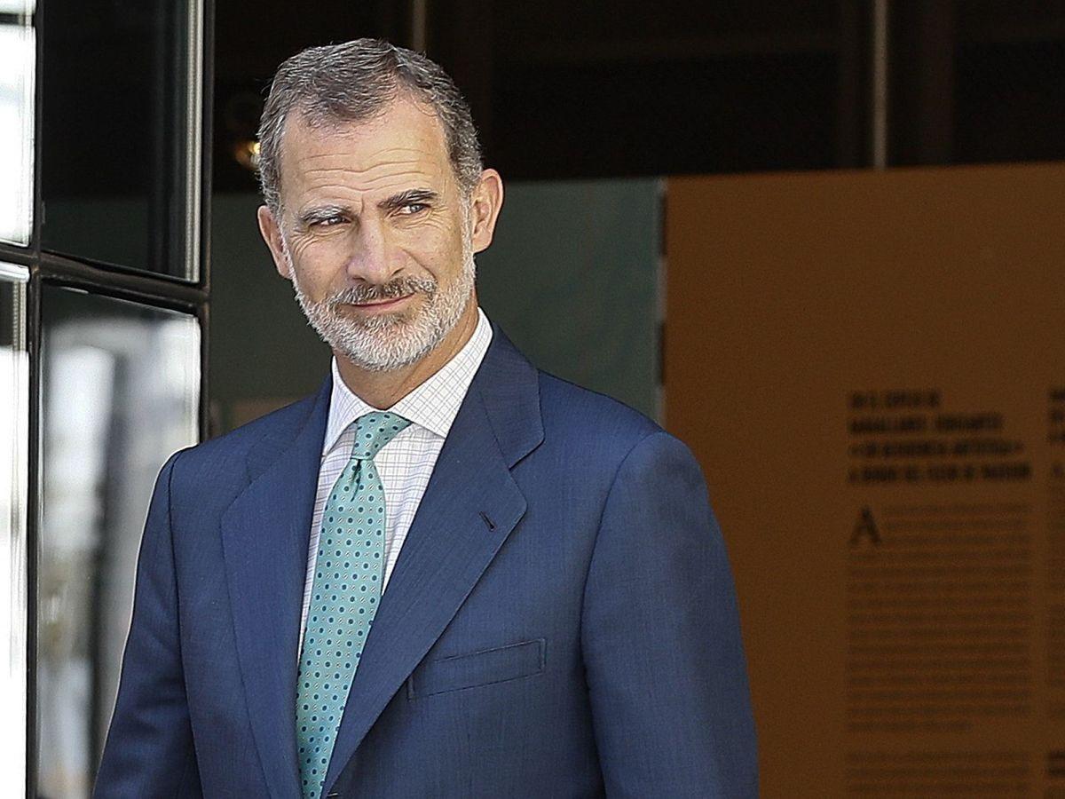 Foto: El Rey, durante un acto oficial en Sevilla. (EFE)