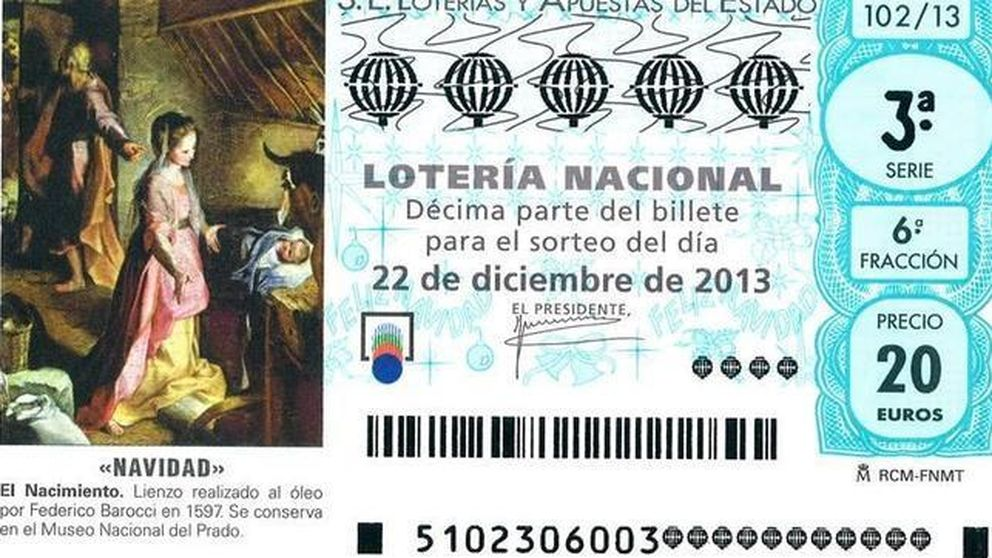 Hacienda recaudará 188,3 millones con la Lotería de Navidad
