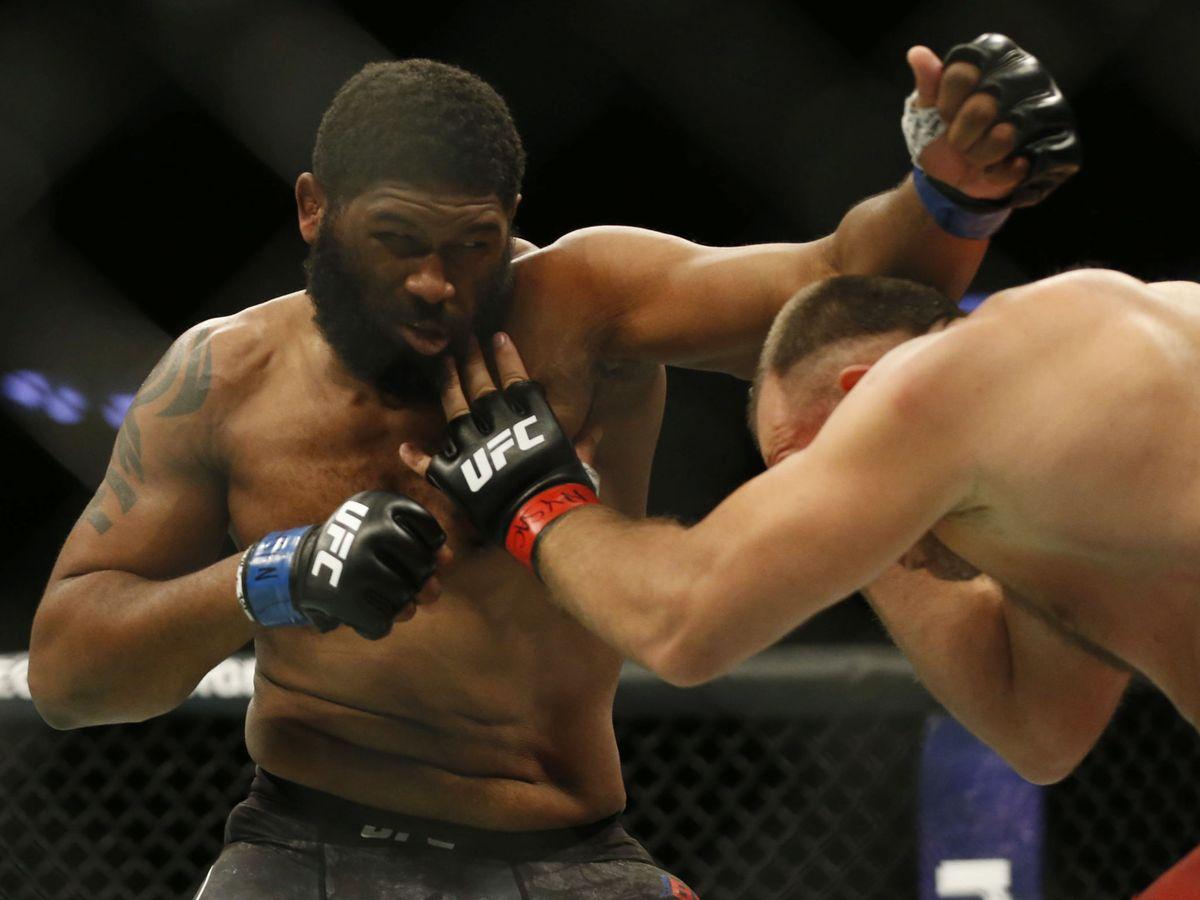 Foto: Curtis Blaydes en una pelea anterior. (USA TODAY Sports)