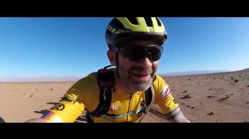 Foto: Antonio Lobato durante su participación en la Titan Desert