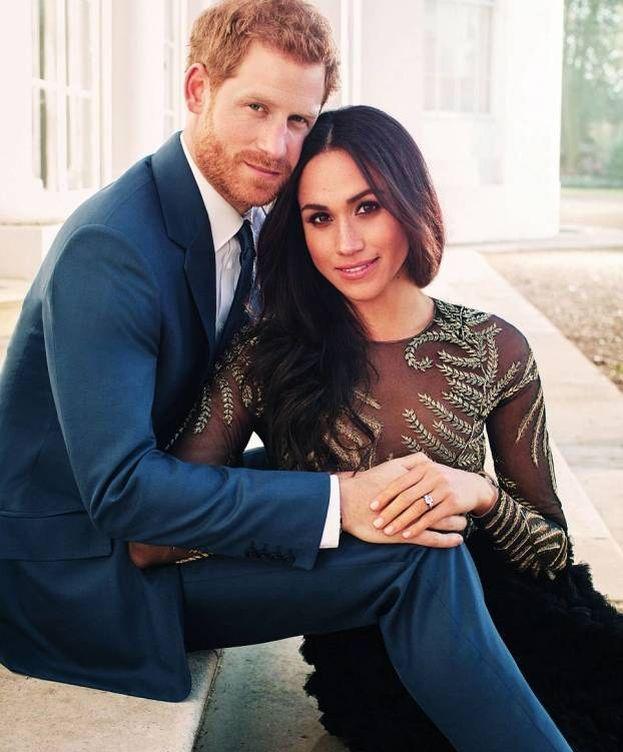 Foto: Meghan Markle y el príncipe Harry en una imagen oficial para anunciar su boda.