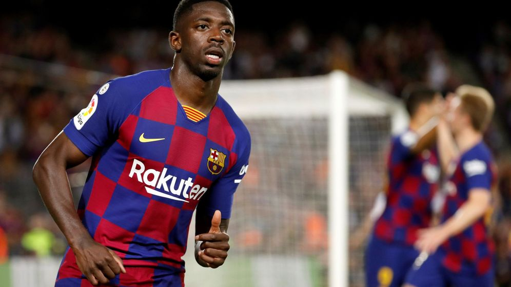 Foto: Ousmane Dembélé durante el partido contra el Sevilla en el Camp Nou. (EFE)