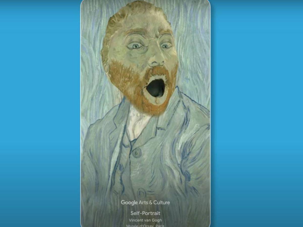 Foto: Uno de los nuevos filtros de la 'app' de Google Arts