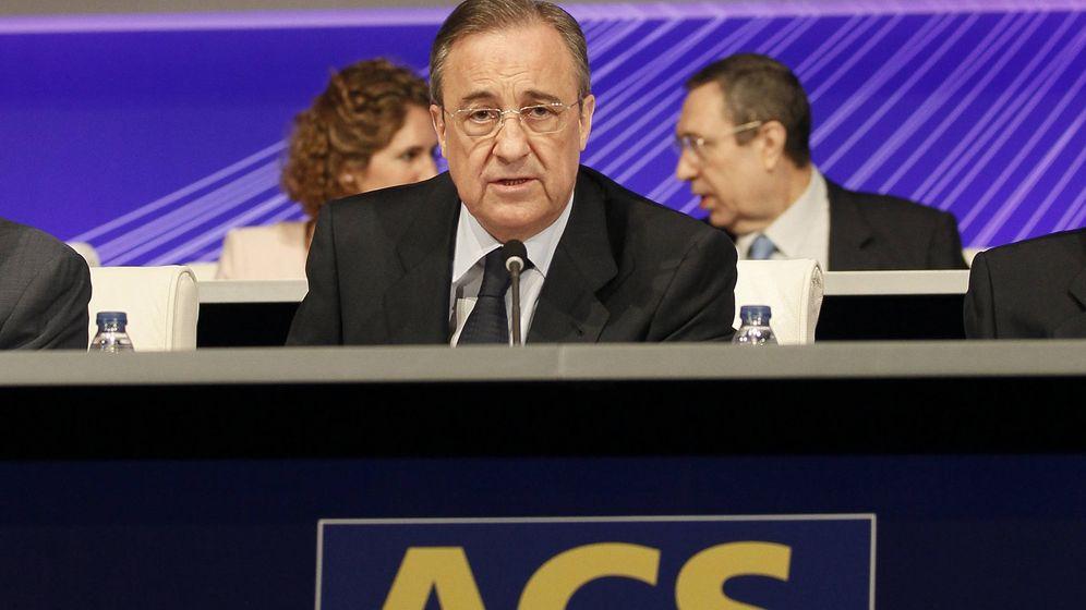 Foto: El presidente de ACS, Florentino Pérez, durante una junta de accionistas. (EFE)