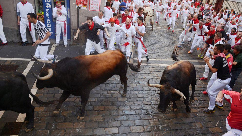 Sanfermines: primer encierro de las fiestas de Pamplona