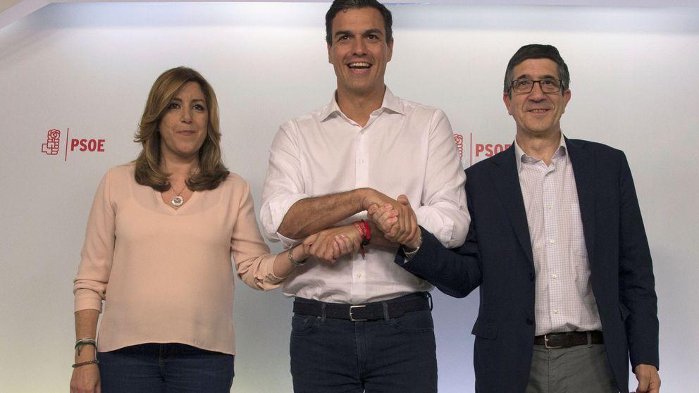 Sánchez busca con Díaz y Puig la foto de la normalidad yendo a sus congresos