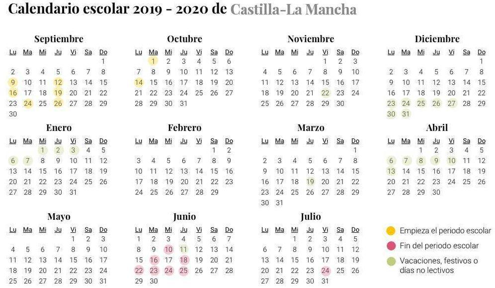 Foto: Calendario escolar 2019-2020 de Castilla-La Mancha (EC)
