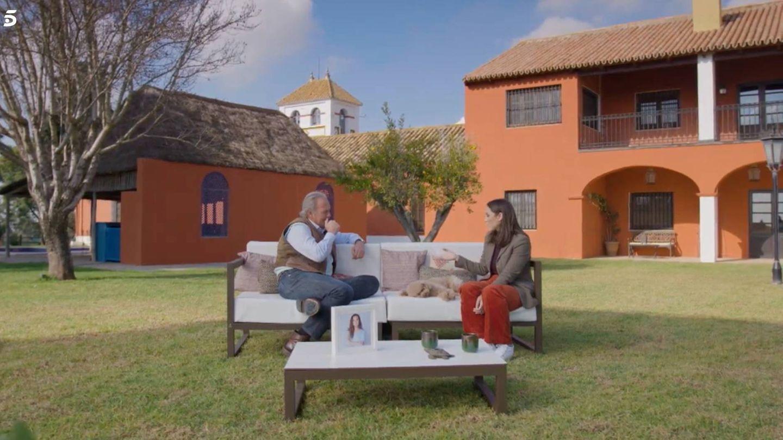 Bertín Osborne y Tamara Falcó, en 'Mi casa es la tuya'. (Telecinco)