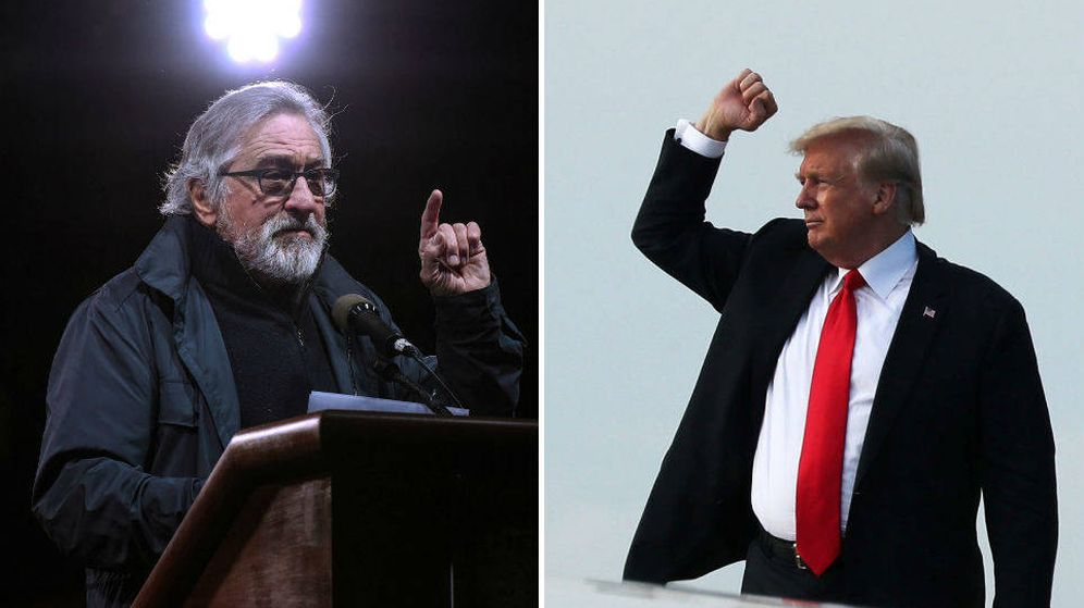 Foto: Robert de Niro y Donald Trump   Fotos: Reuters