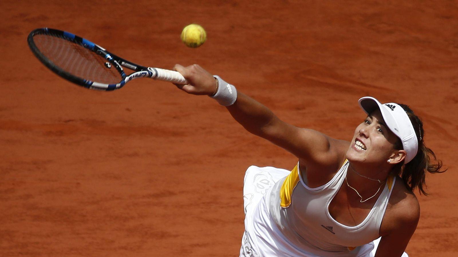 Foto: Garbiñe Muguruza, en un momento de su partido ante Lucie Safarova.