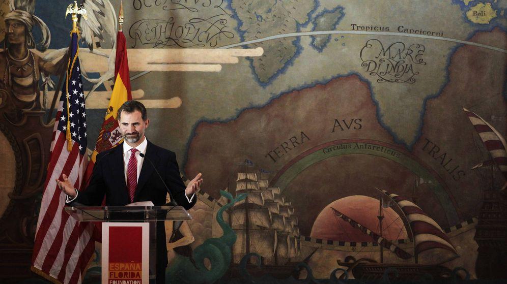 Foto: El entonces príncipe Felipe en Florida por el aniversario de Juan Ponce de León. (Reuters)