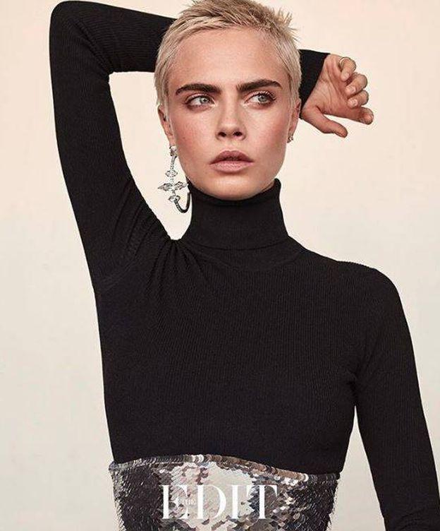 Foto: La modelo y actriz Cara Delevigne en una imagen de la revista 'The Edit'. (Instagram)