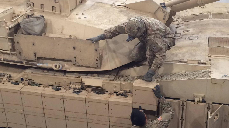 Blindaje reactivo modular en un Abrams (US Army).