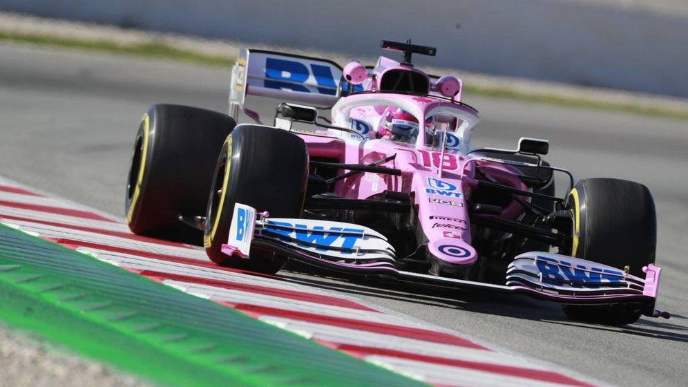 Foto: El RP20 de Racing Point levanta cada vez más suspicacias entre sus rivales, además de mostrar gran ritmo (Racing Point)