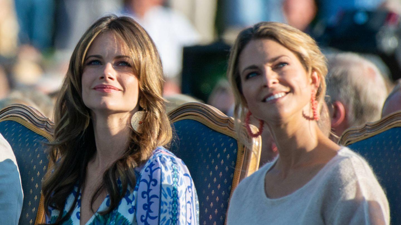 Sofia y Magdalena, durante las celebraciones del cumpleaños de Victoria de Suecia. (Getty)