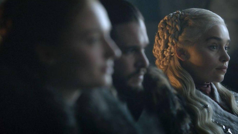 Sansa, Jon y Daenerys en Invernalia. (HBO)