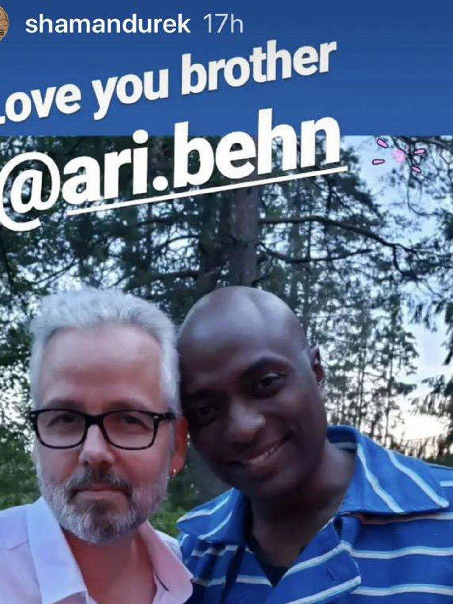 Ari Behn y Durek Verret. (Instagram)