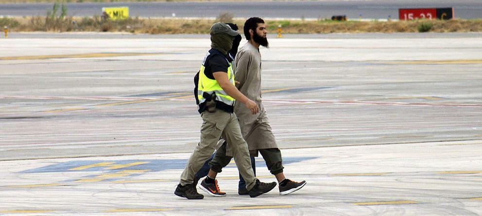 Foto: El presunto líder de la célula terrorista vinculada al Estado Islámico (EI) detenido en Melilla (Efe).