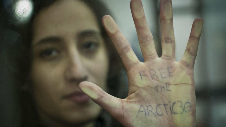 Una de las activistas de Greenpeace durante las vistas sobre el caso (Efe)