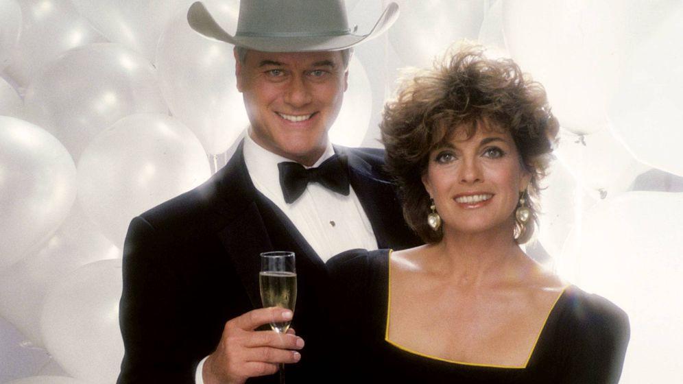 Foto: Larry Hagman (JR) y Linda Gray (Sue Ellen), en 'Dallas'. (Cordon Press)