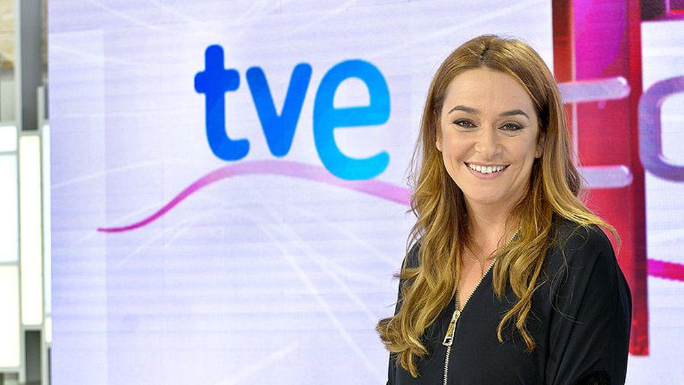 Foto: Toñi Moreno, presentadora del espacio 'T con T' de Proamagna. (RTVE)