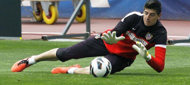 Foto: Thibaut Courtois durante un entrenamiento del Atlético (Efe).