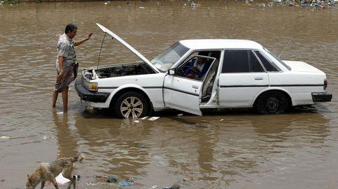 Lluvias torrenciales en Saná