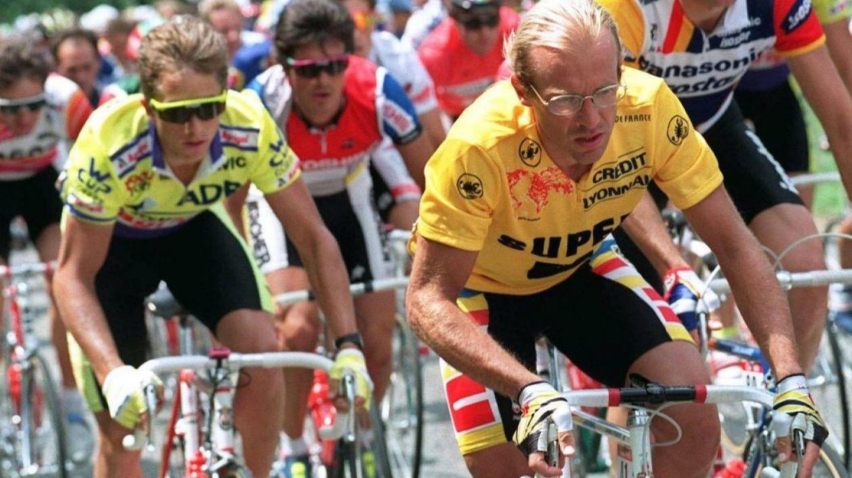 Greg Lemond en acción ante Fignon. (Imagen de archivo)