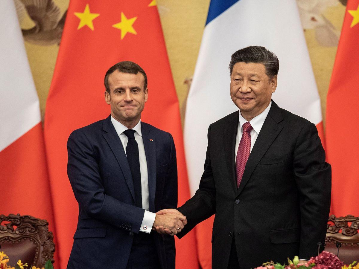 Foto: Macron, en su visita a China en 2019. (EFE)