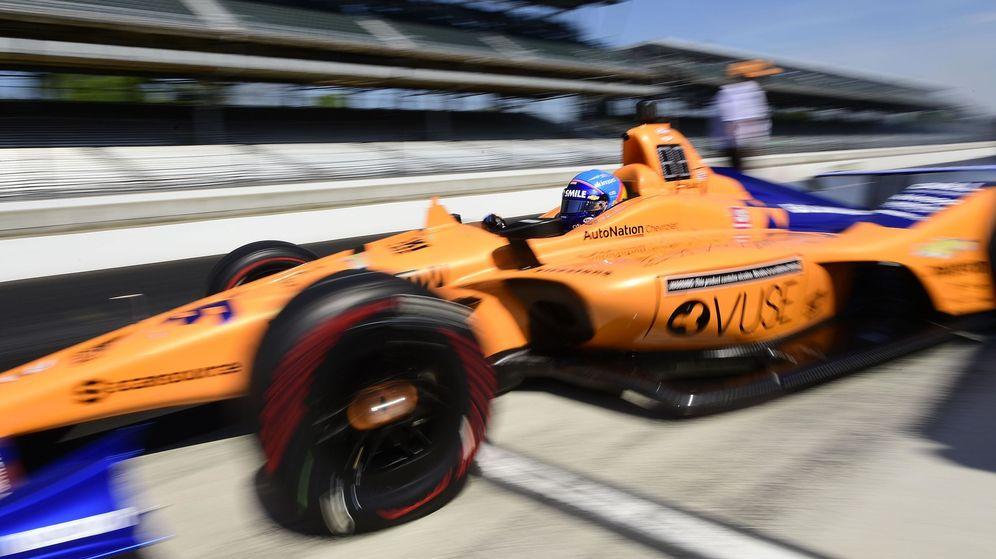 Foto: Fernando Alonso no pudo rodar el jueves en Indianápolis. (USA TODAY Sports)
