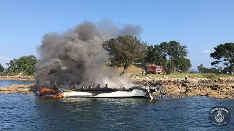 Fallece uno de los heridos en el incendio del catamarán de O Grove (Pontevedra)