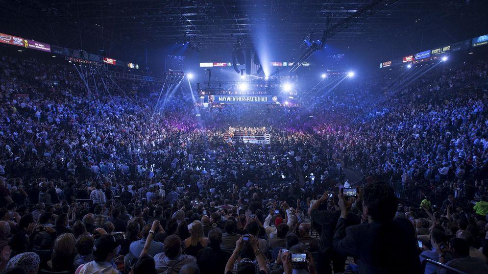 Foto: El Casino MGM, lleno hasta arriba en un combate de boxeo. (EFE)