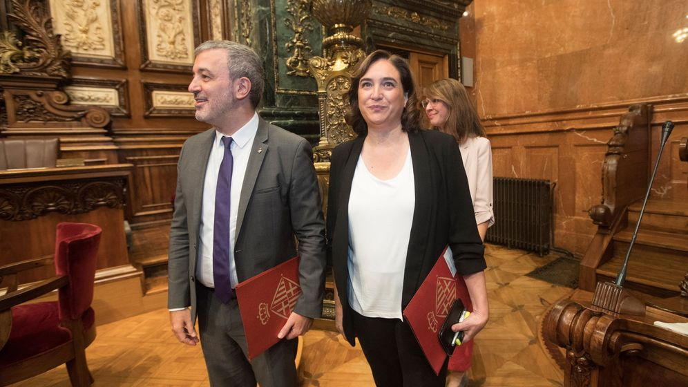 Foto: Ada Colau, junto a Jaume Collboni. (EFE)