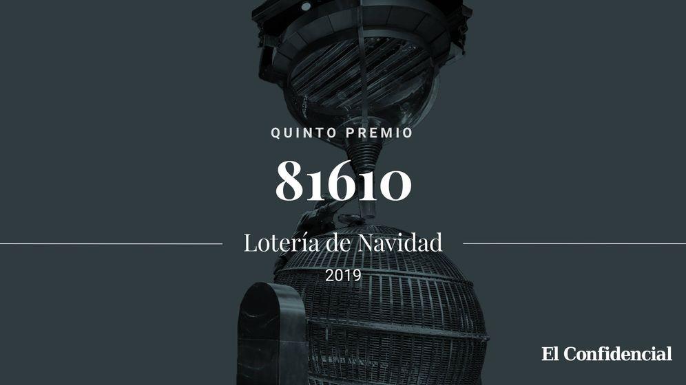 Foto: Quinto premio de la Lotería de Navidad de 2019. (El Confidencial)