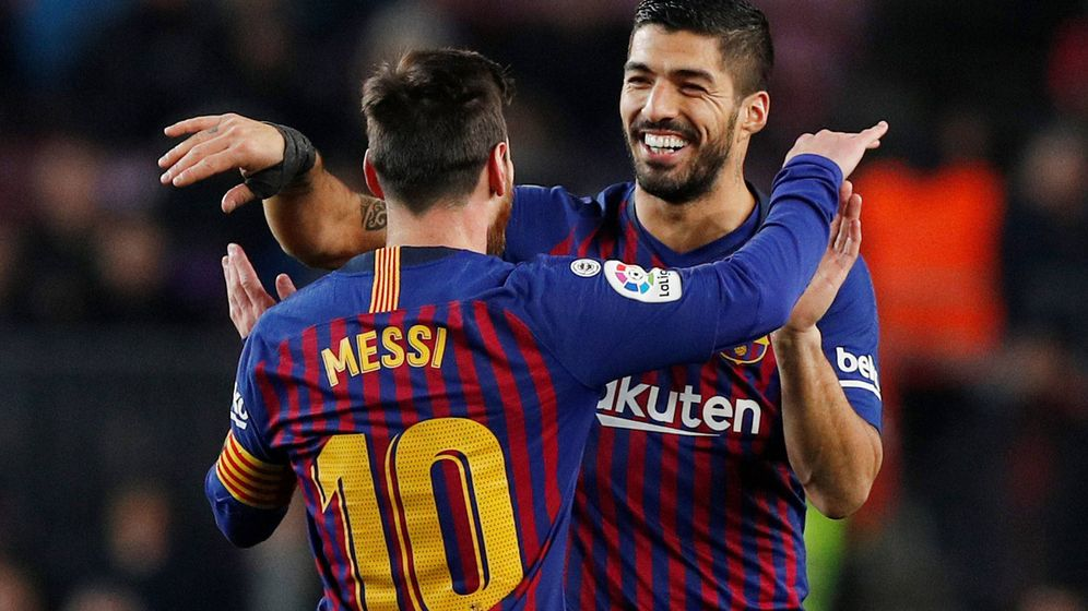 Foto: Luis Suárez y Leo Messi celebran un gol con el FC Barcelona. (Reuters)