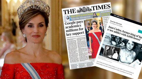 'The Times' coloca en portada a Letizia un día después de llamar al emérito 'adicto al sexo'