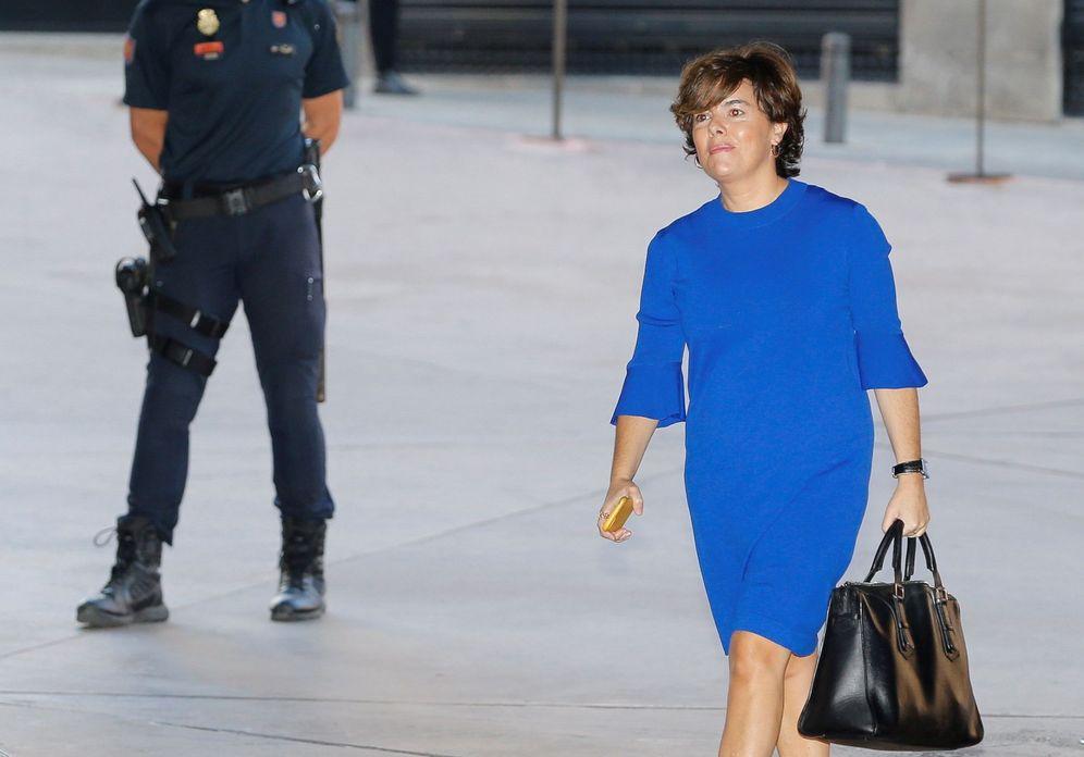 Foto: Soraya Sáenz de Santamaría, este 17 de septiembre en una cumbre de turismo en Madrid. (EFE)