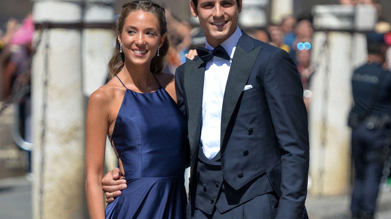 Alice Campello y Álvaro Morata en la boda de Pilar Rubio y Sergio Ramos. (Getty)