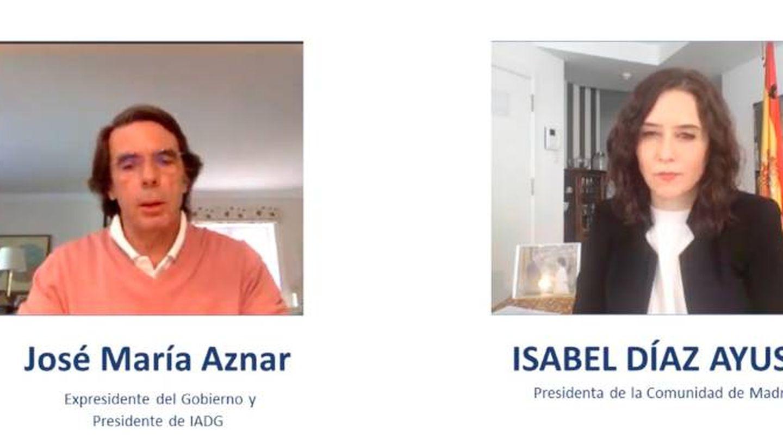 Aznar y Ayuso, durante la jornada organizada por Instituto Atlántico.