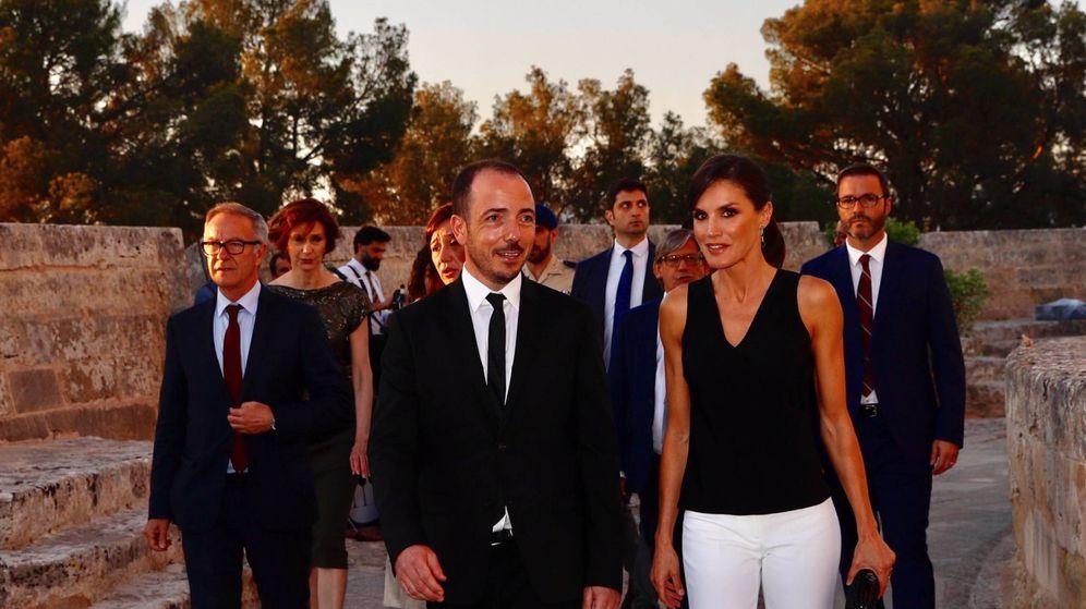Foto: La reina Letizia a su llegada al acto. (Casa Real)