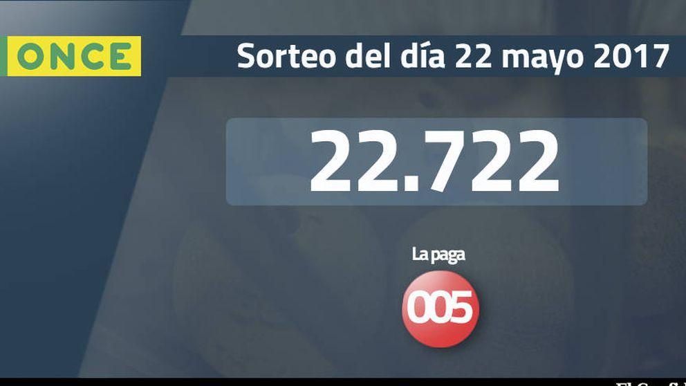 Resultados del sorteo de la ONCE del 22 mayo 2017: número 22.722