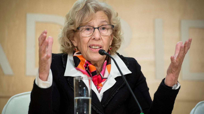 La alcaldesa de Madrid, Manuela Carmena, durante la rueda de prensa. (EFE)
