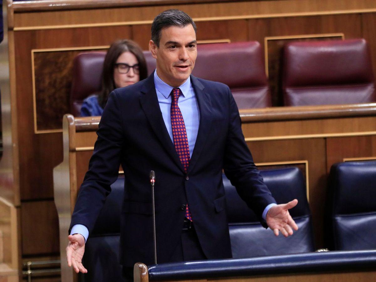 Foto: Pedro Sánchez, durante la sesión de control al Gobierno de este 10 de junio en el Congreso. (EFE)
