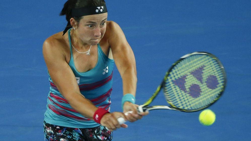 Foto: Garbiñe Muguruza en uno de sus partidos en el Open de Australia. (EFE)