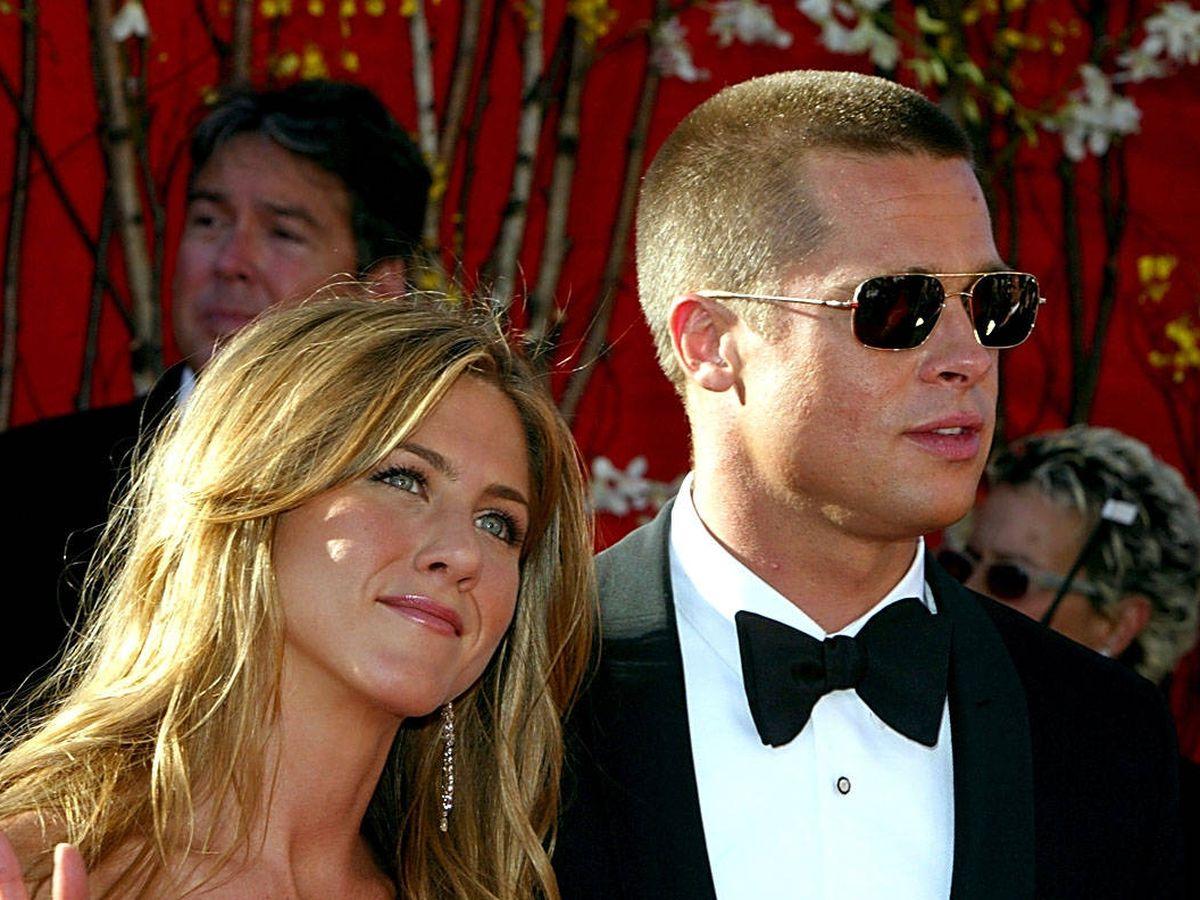 Foto:  Jennifer Aniston y Brad Pitt. (Getty)