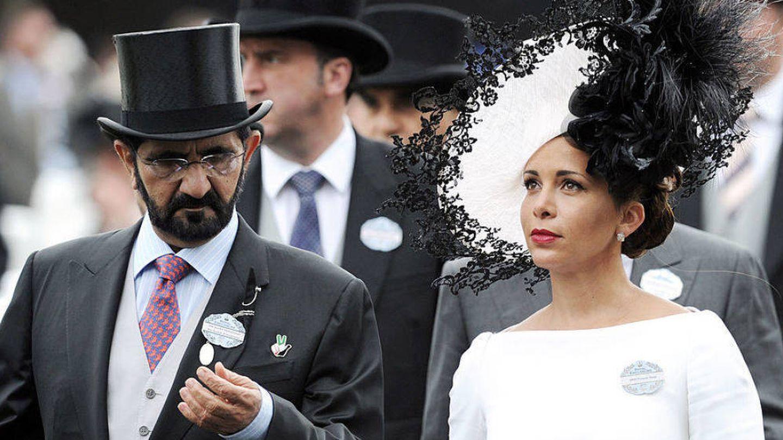 Haya de Jordania y Mohammed Bin Rashid, en una imagen de archivo. (Getty)