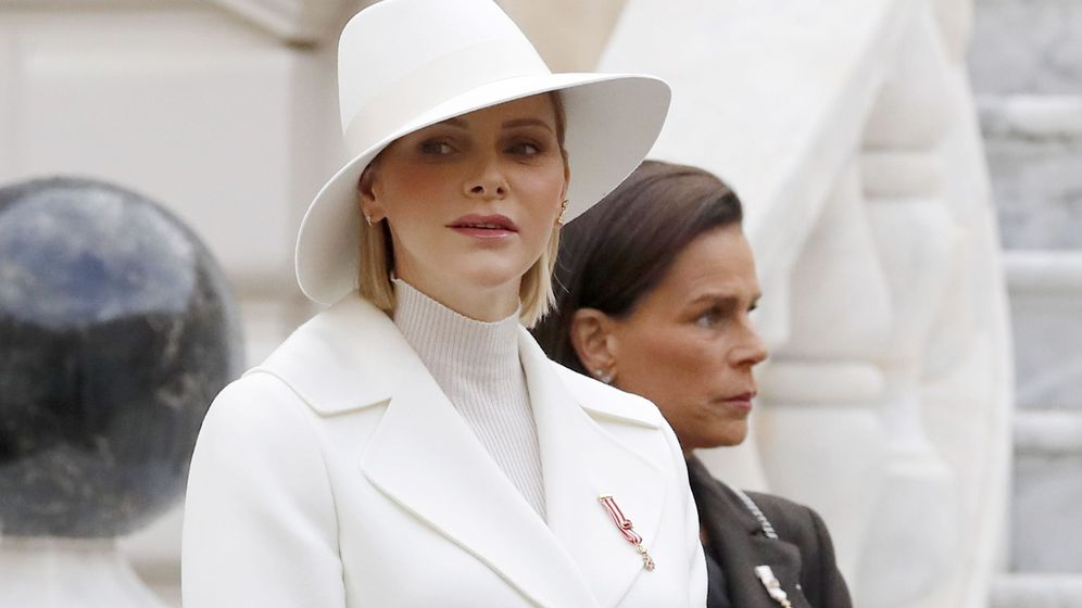 Foto: Charlène de Mónaco, en las celebraciones del Día Nacional. (EFE)